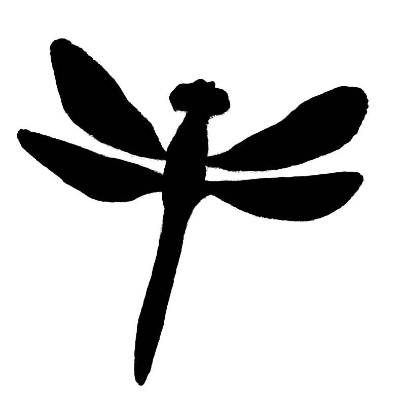 Dragonfly Clipart Black And White | Clipart Panda - Free Clipart ...