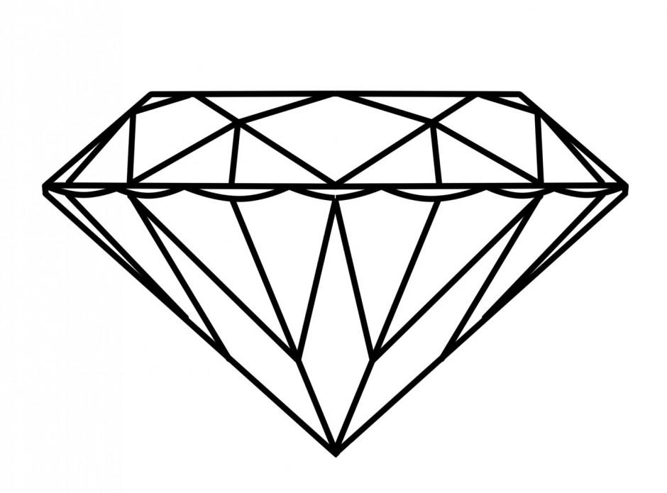 Diamond Outline Clip Art