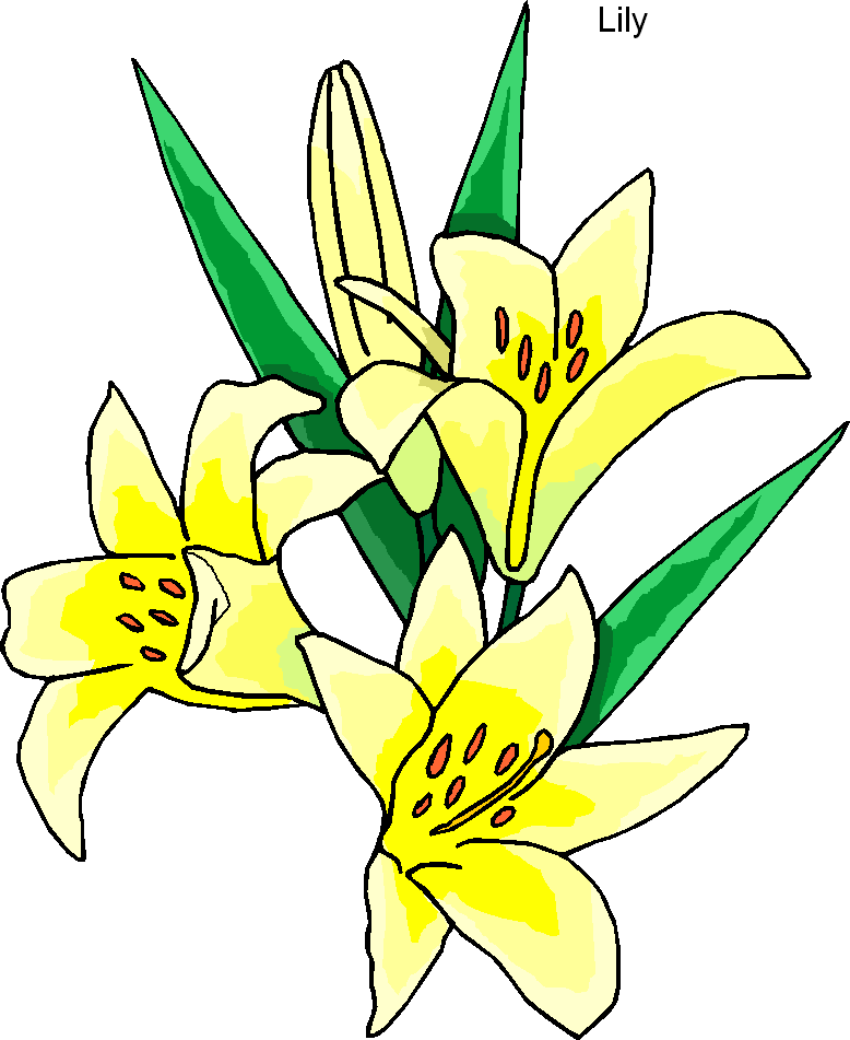 easter lilies free clipart - photo #37