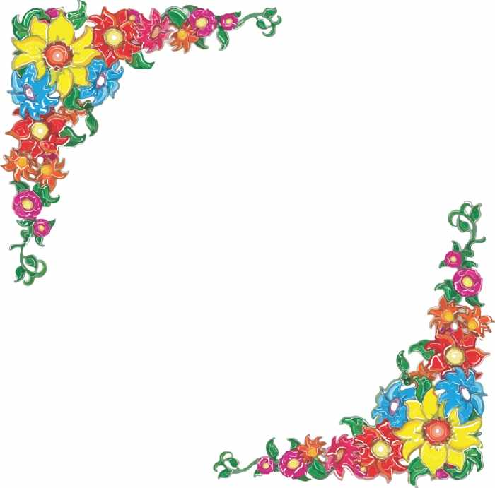 Clip Art Flowers Border | Free Reference Images - Cliparts.co