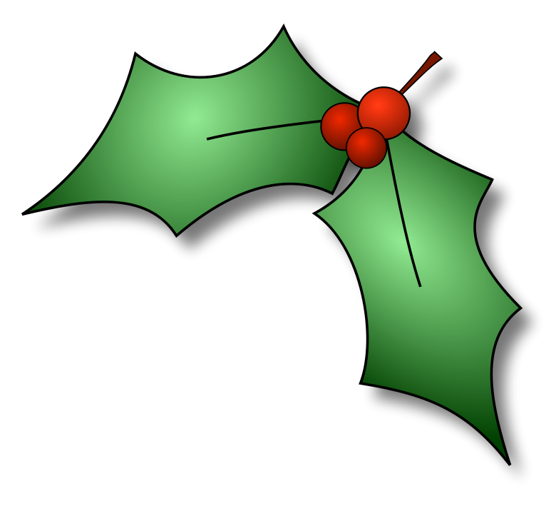 Cartoon Christmas Holly | quotes.