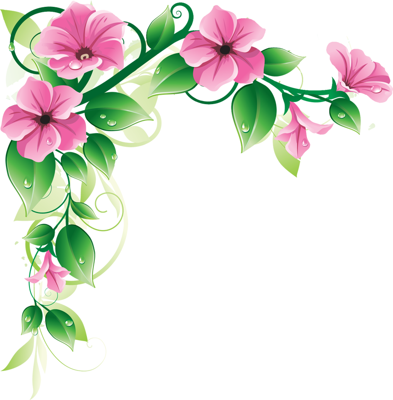 Spring Flowers Clip Art Border Home Design Plan Home Design Plan