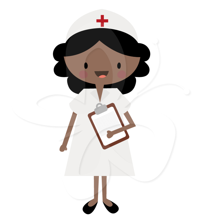 Medical Clipart Set - Nurse, Doctor and Surgeon - Creative Clipart ...