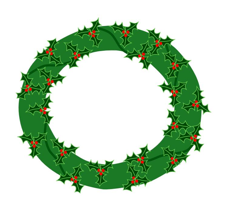 clipart christmas wreath free - photo #25