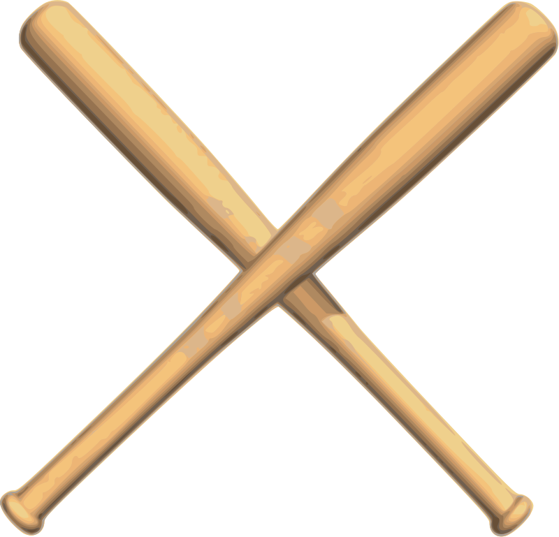 Baseball And Bat Clipart