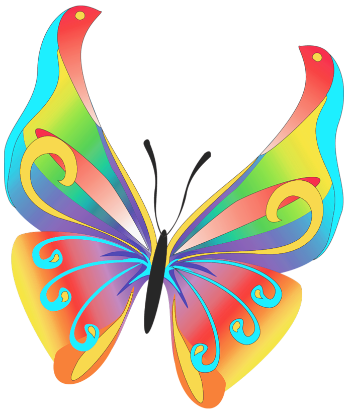 Yellow Butterfly Clipart - Cliparts.co