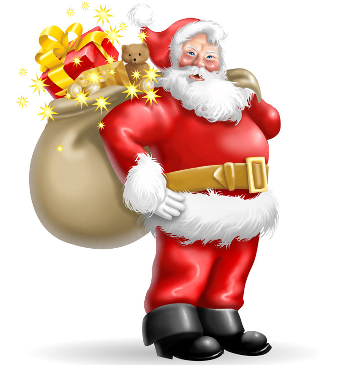 3D and 2D Graphic: Clipart - Cartoon Santa Claus