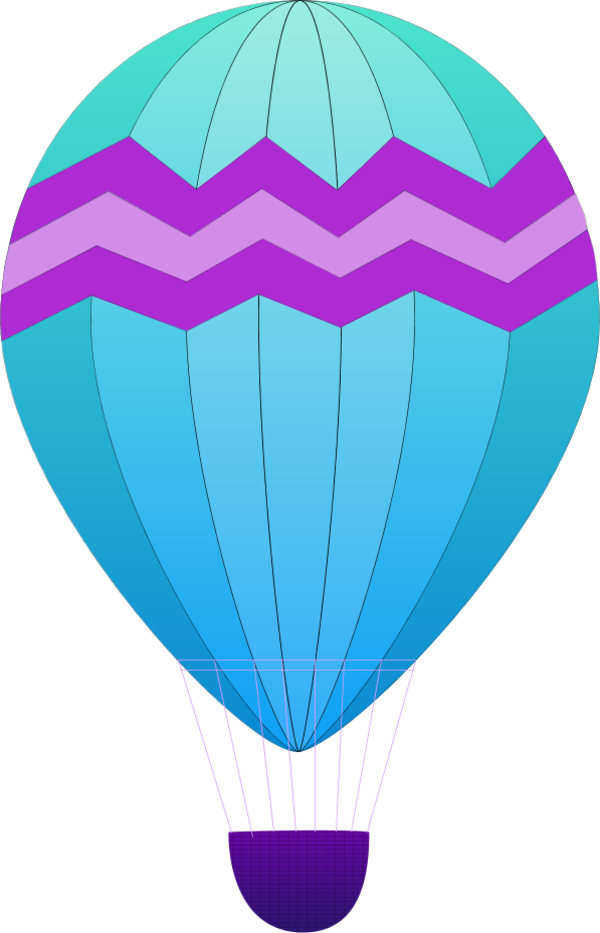 Hot air balloon outline cliparts co