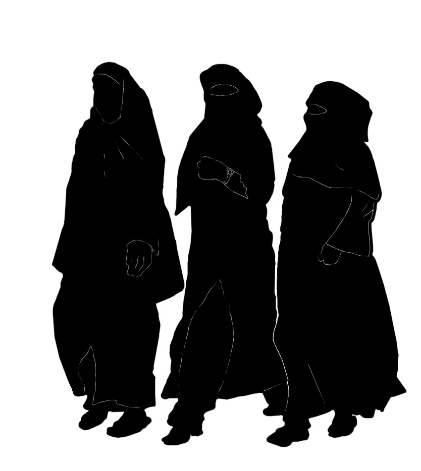 Stock Pictures: Women in Burkhas - Silhouettes
