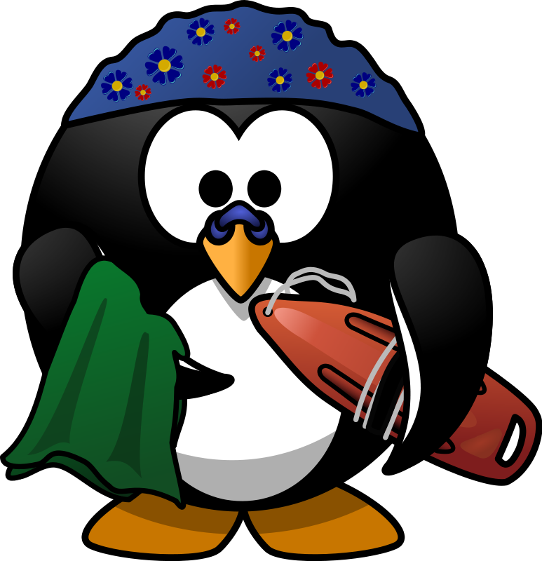 Free Swimmer Penguin Clip Art
