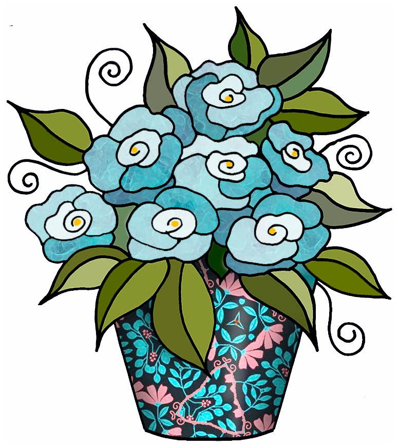 ArtbyJean - Paper Crafts: Flowers in Bunches - CRAFTY CLIP ART: Set A-