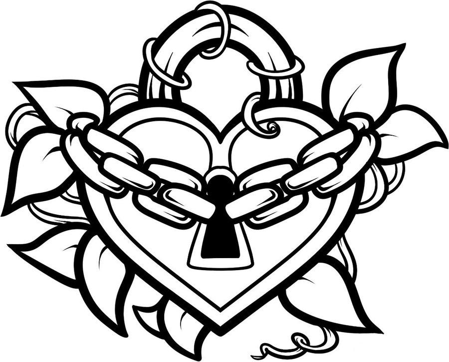 Heart Line Art Design : Heart no background cliparts