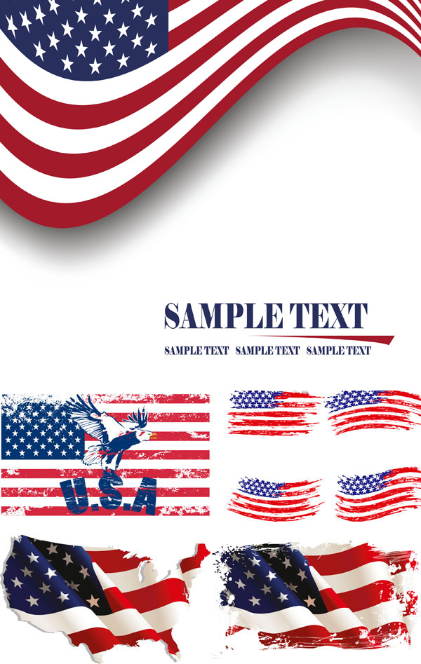 american flag vintage vector - photo #24
