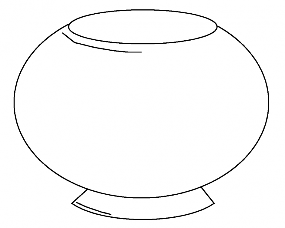 Empty Fish Tank Coloring Page