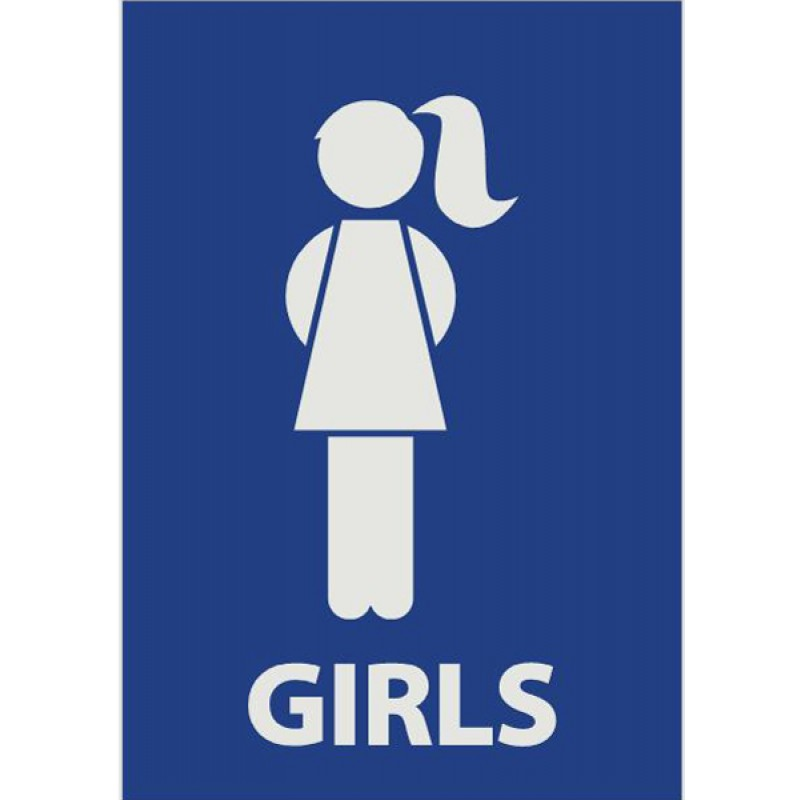 Printable restroom signs for Boy and girl bathroom door signs