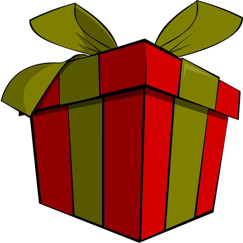 Gift Clipart Black And White