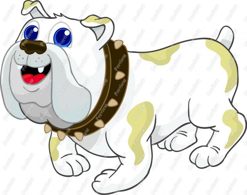 Friendly bulldog mascot clipart