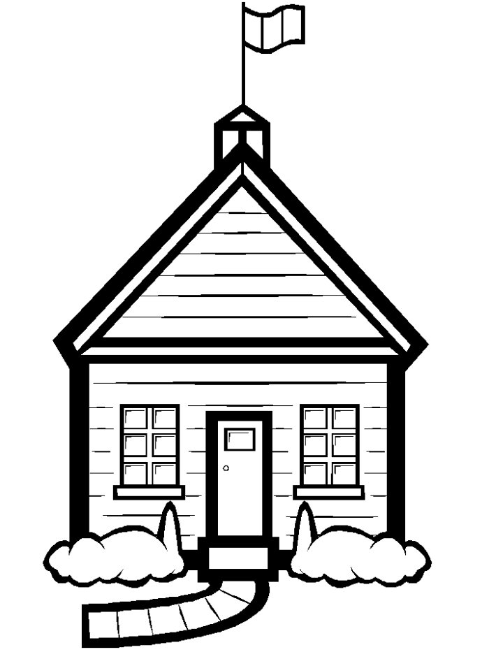 School House Clipart Black And White | Clipart Panda - Free ...