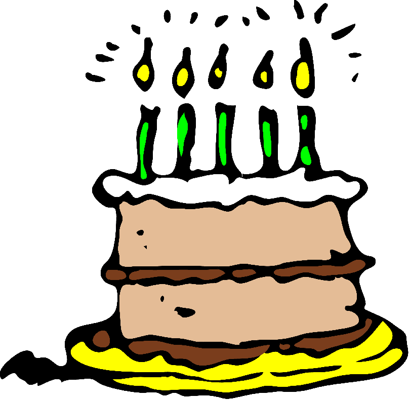 Baby birthday cake -Clipart Pictures