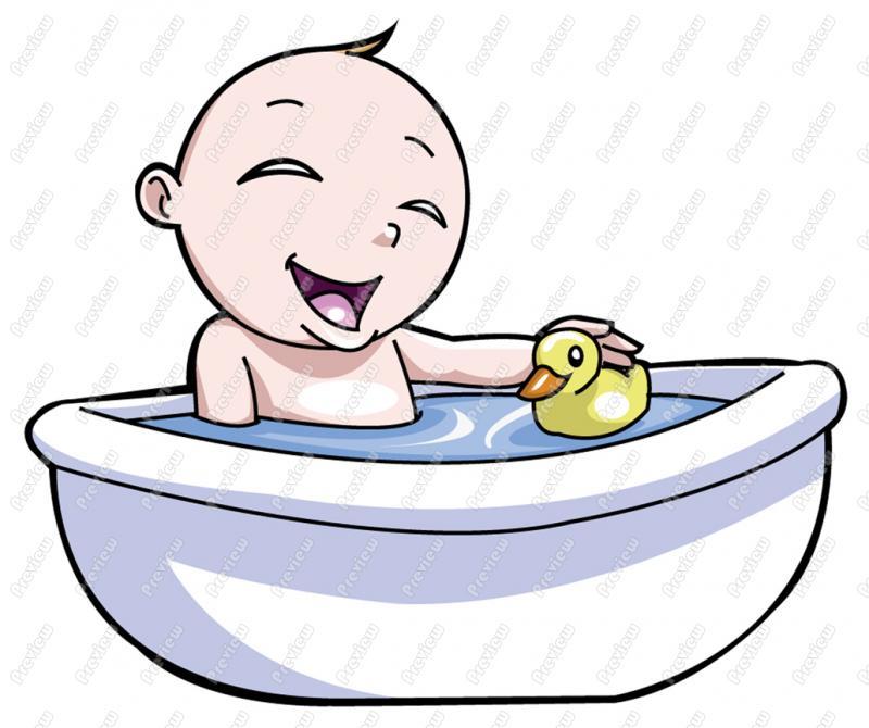 taking a bath clipart - photo #1