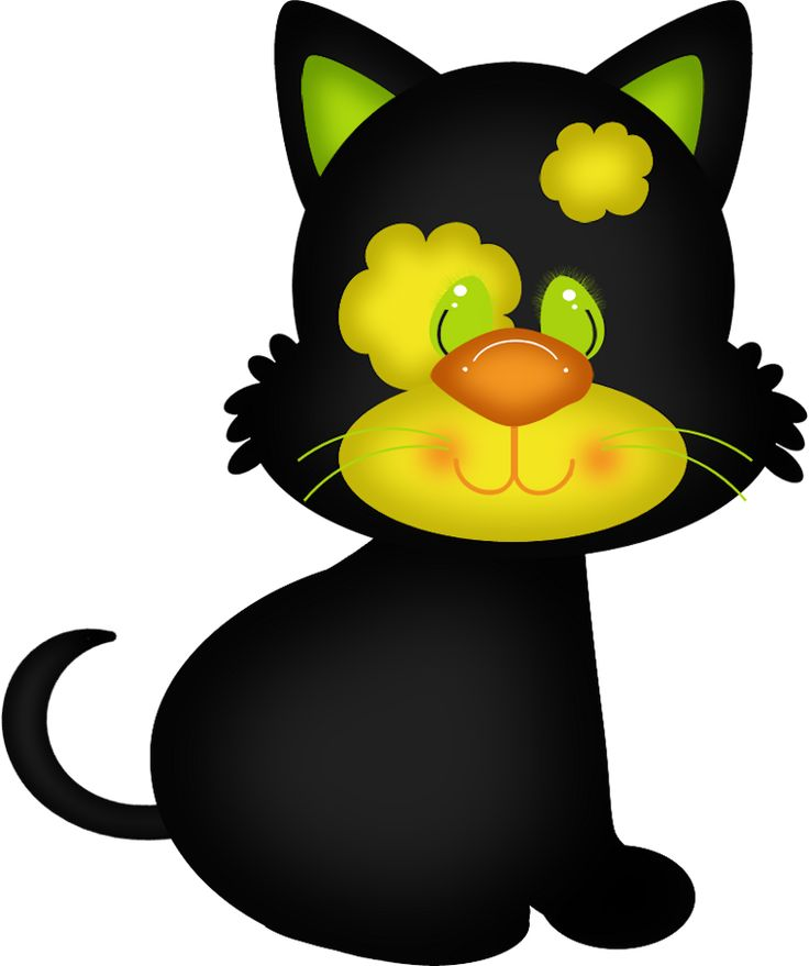 CUTE HALLOWEEN CAT CLIP ART | Holiday: Halloween Clipart | Pinterest