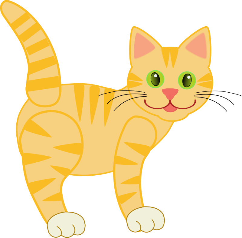 Free Cute Yellow Cat Clip Art