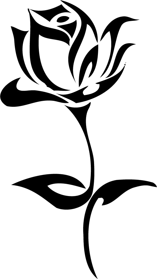 Download PNG image: Tattoo rose PNG image