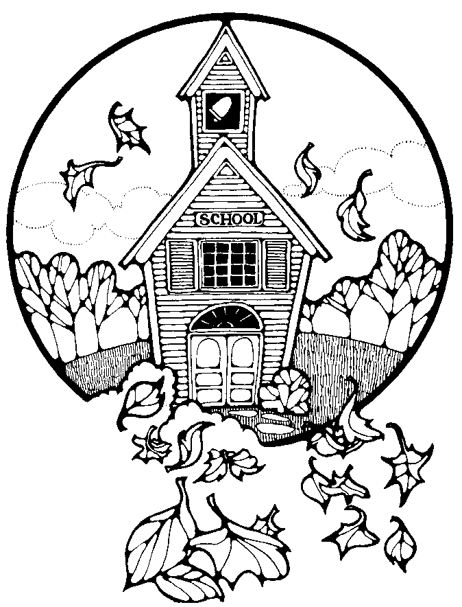 Free School Coloring Pages Clipart - Public Domain School Coloring ...