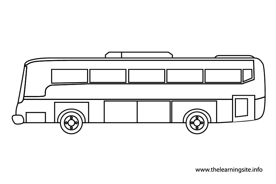 Bus Outline - Cliparts.co