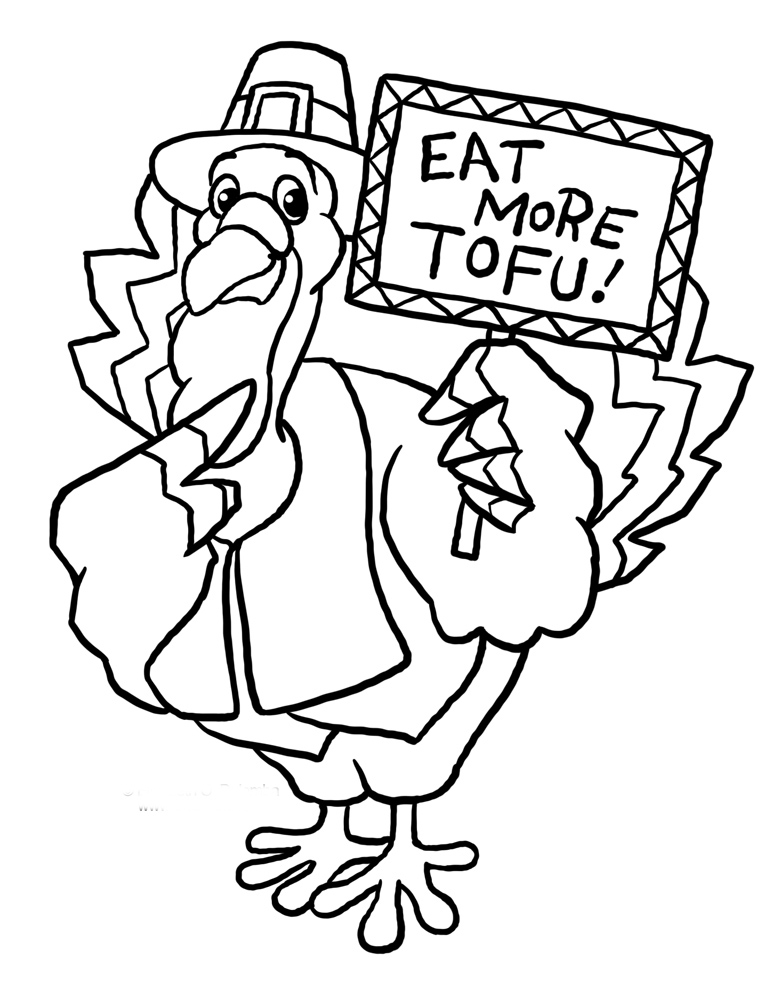 Thanksgiving Cute Turkey Coloring Pages