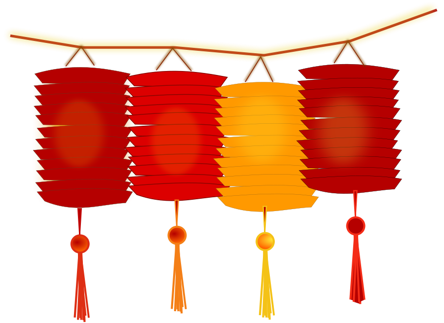 Chinese Lantern Clipart, vector clip art online, royalty free ...