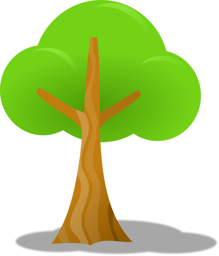 Simple tree Clipart, vector clip art online, royalty free design ...