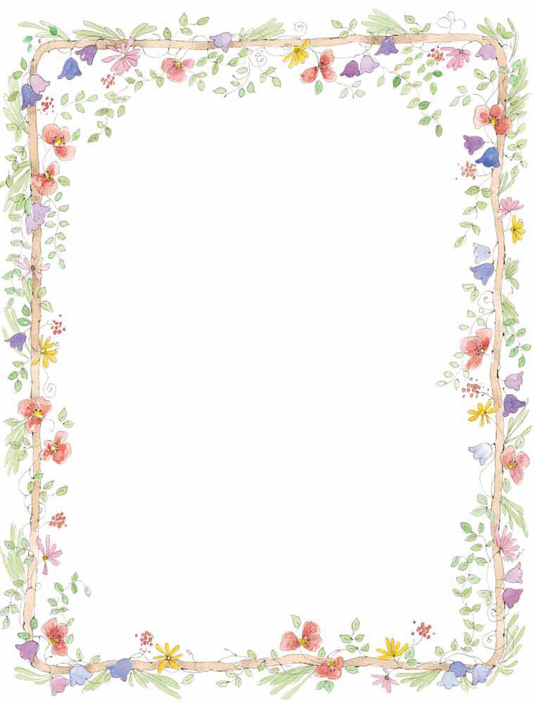 Black And White Flower Border - Cliparts.co