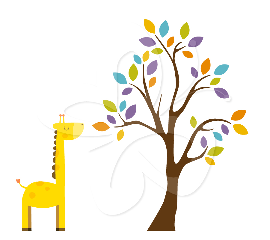 Safari Tree Clip Art Set - Creative Clipart Collection