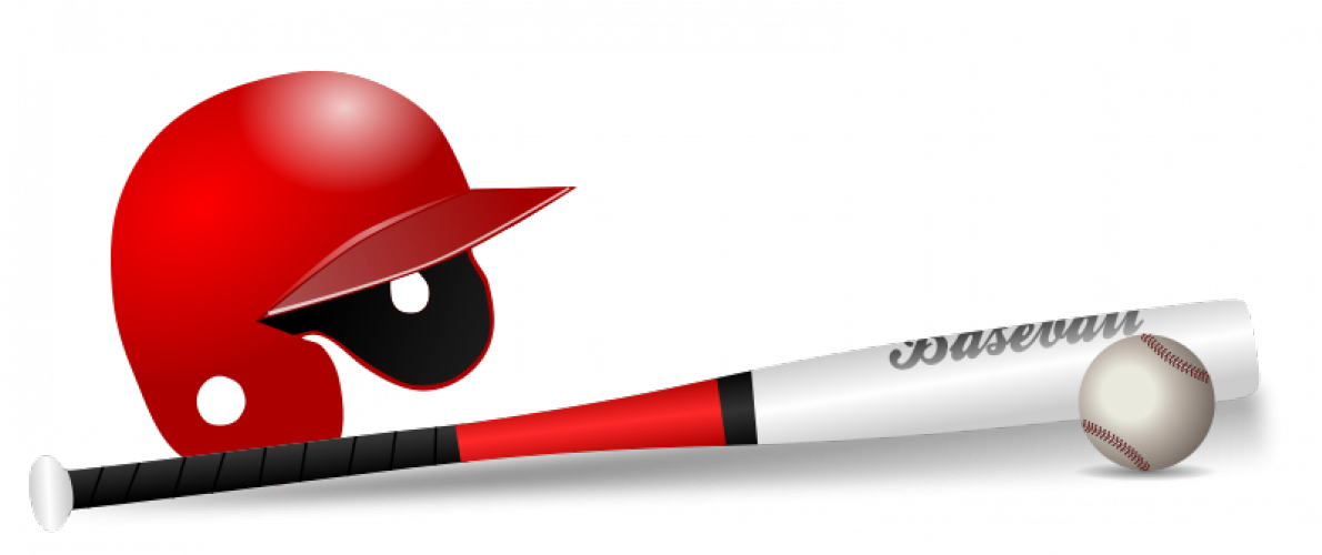 Baseball bat, ball and cap vector clip art | Public domain vectors
