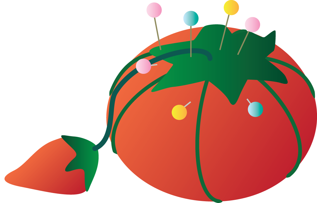 Tomato Pin Cushion Ghg image - vector clip art online, royalty ...