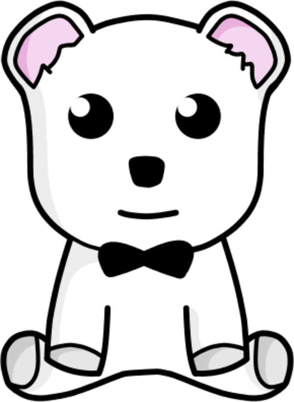 teddy bear sitting - vector Clip Art