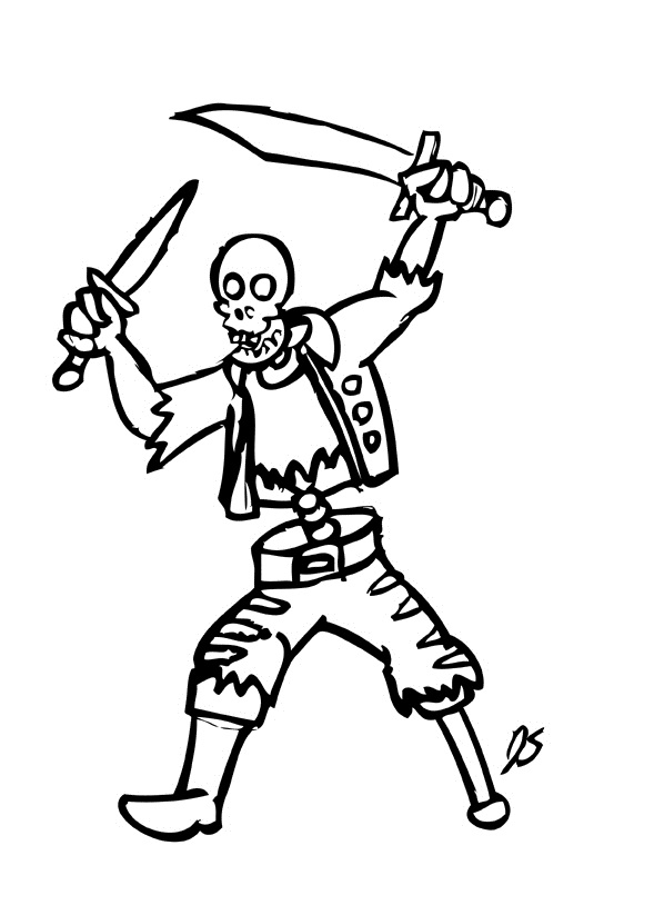 halloween skeleton cartoon