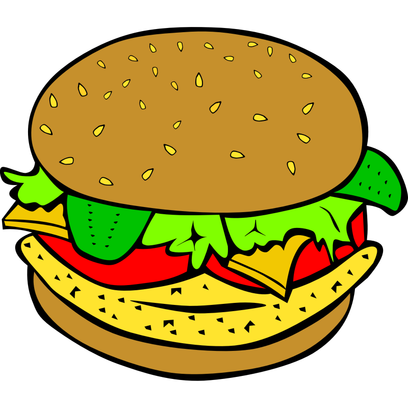 Clipart - Fast Food, Lunch-Dinner, Chicken Burger