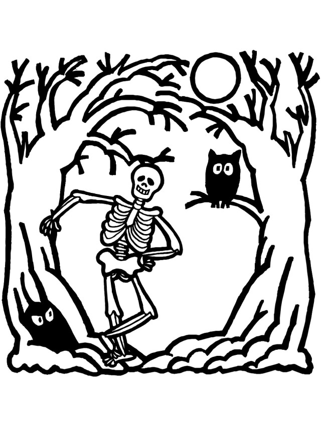 skeletons coloring pages - skeleton picture for kids