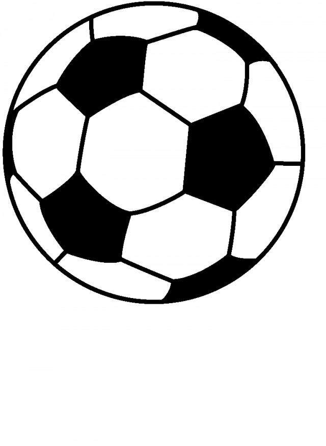 Picture Of A Soccer Ball To Print Free Coloring Page 246821 Soccer ...