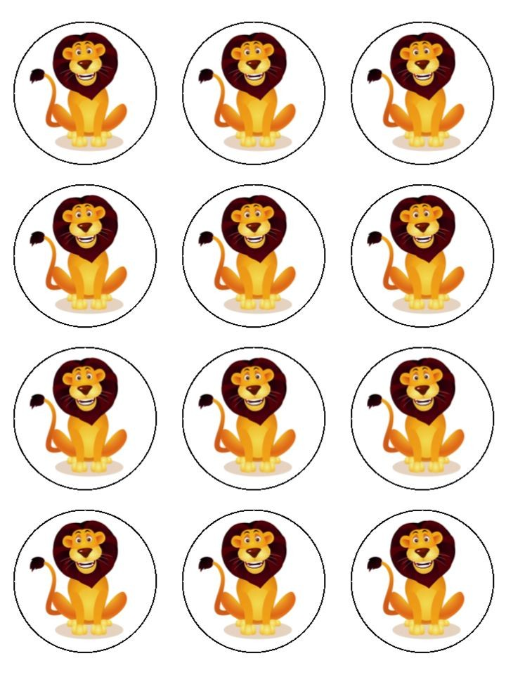 Pin Lion Cartoon Face Happy Ajilbabcom Portal Cake on Pinterest