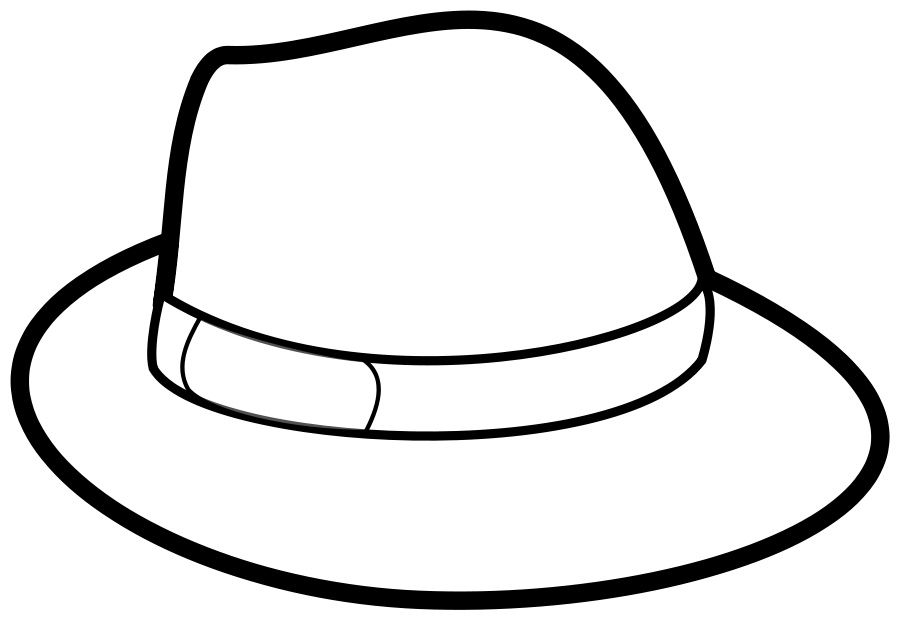 Hat Outline medium 600pixel clipart, vector clip art