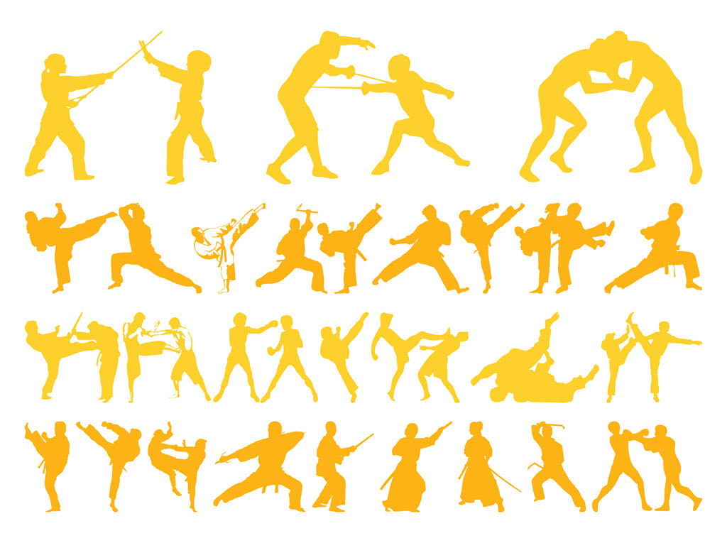 Free Martial arts Vectors