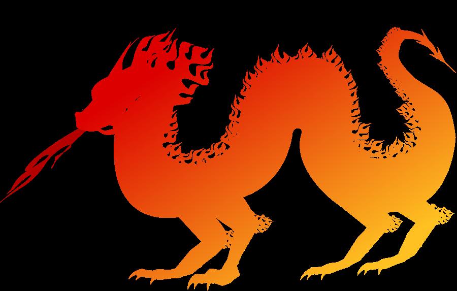 Clip Art Cartoon Dragon