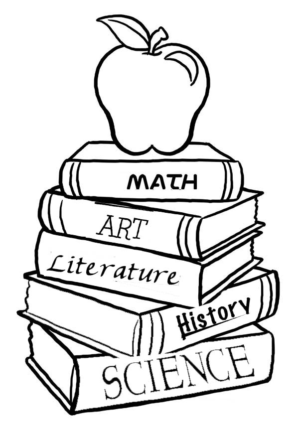 Stack Of Books Cartoon Cliparts Co Books For Coloring