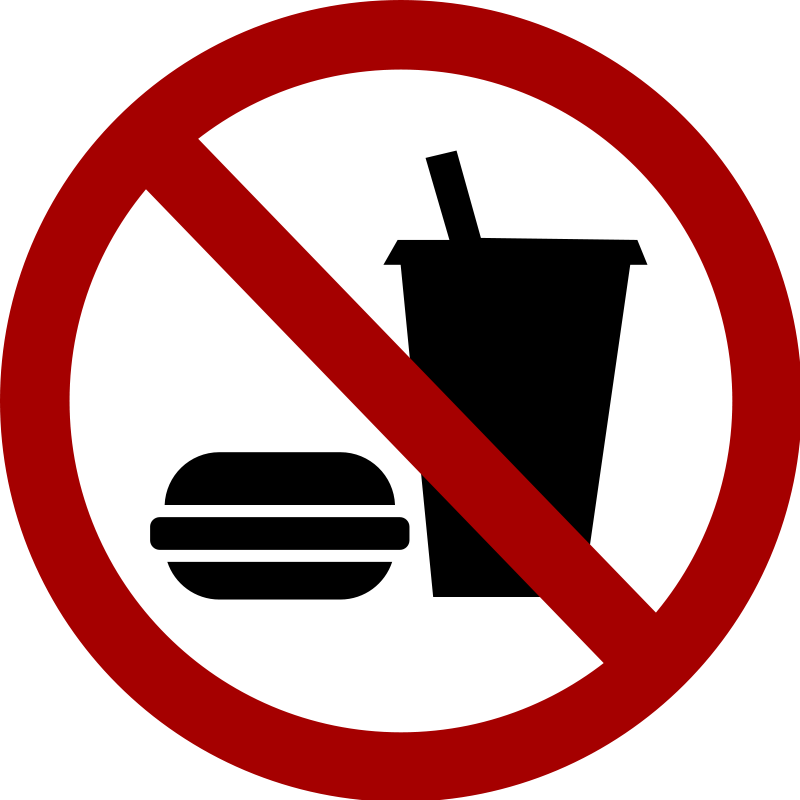 No Food Or Drink Clipart