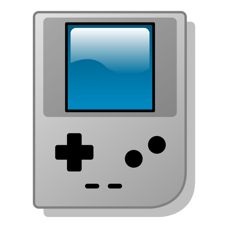 Free Handheld Game Console Clip Art