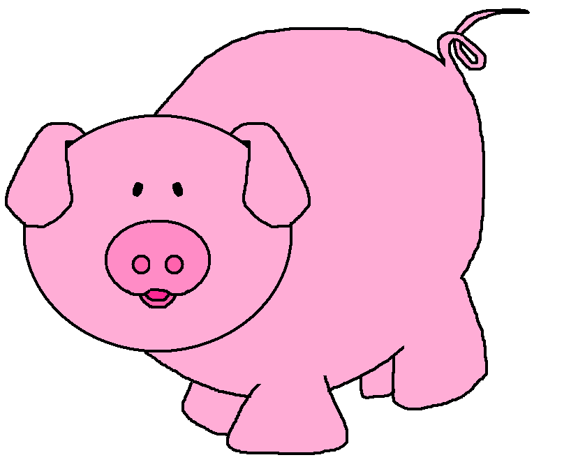 free clip art pink pig - photo #4