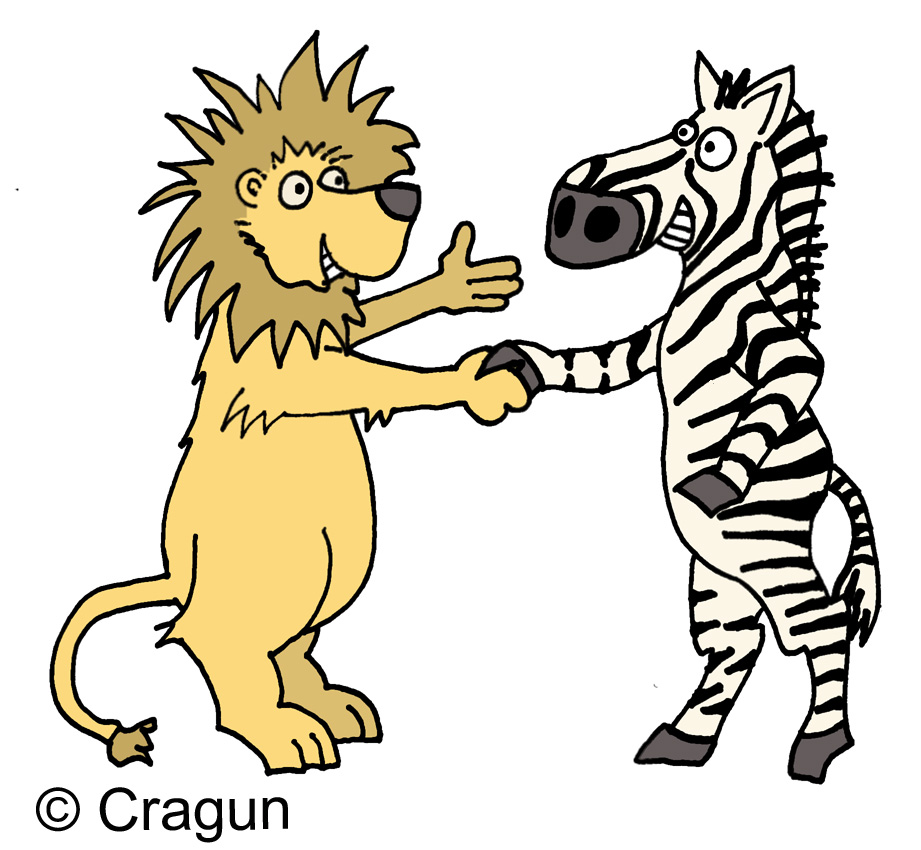 lions and tigers and bears clip art